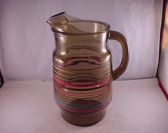Smoke Glass Water Pitcher