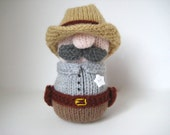 Sheriff Howdy toy knitting patterns