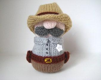 Sheriff Howdy toy knitting patterns