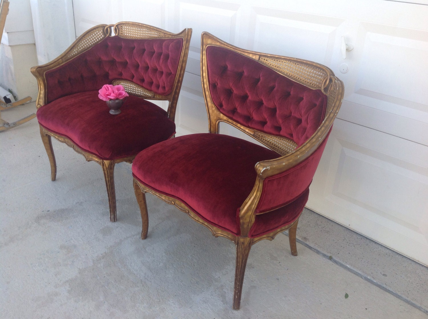 happy new year sale french chairs pair of art deco leaf chairs. Black Bedroom Furniture Sets. Home Design Ideas