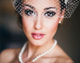 Bandeau Style Veil French Net Blusher Simple Soft Birdcage Veil Hat Net Face Veil On Hair Combs Hair Pins Many Colors