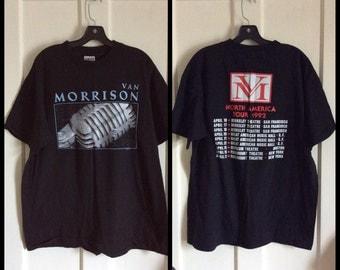 Vintage Van Morrison 1992 Tour Rock Band T-shirt size XL
