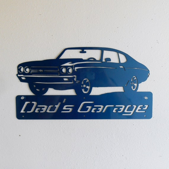 Custom Car Garage Signs : Personalized metal sign man cave classic by