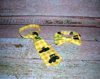 Boy's Pretied Necktie or Bow Tie, John Deere, Ready to Ship