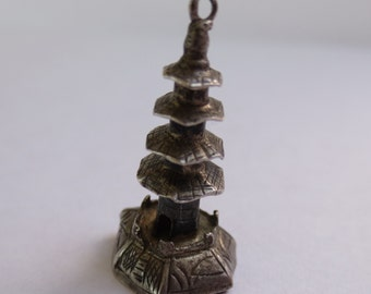 JAPANESE PAGODA Sterling Silver Charm or Pendant