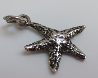 Ocean STARFISH Sterling Silver Charm or Pendant