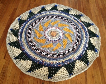 Sunflower Far Isle Rag Rug