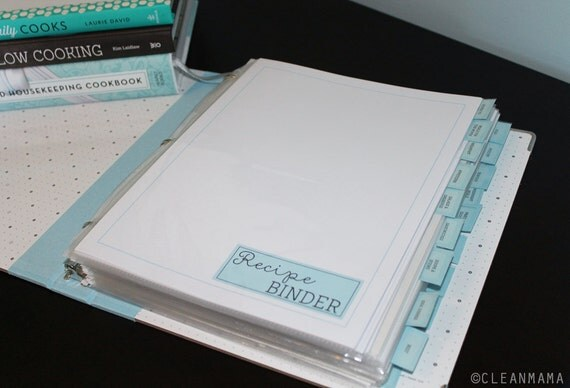 MENU PLAN - Clean Mama's RECIPE Binder Kit - 42 documents - Instant Download