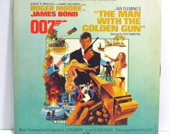 The Man with The Golden Gun James Bond 007 Album Cover Purse Custom Made Vintage Record Purse LP Album Handbag Tote