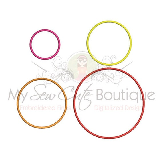 Circle applique designs machine embroidery monogram shapes