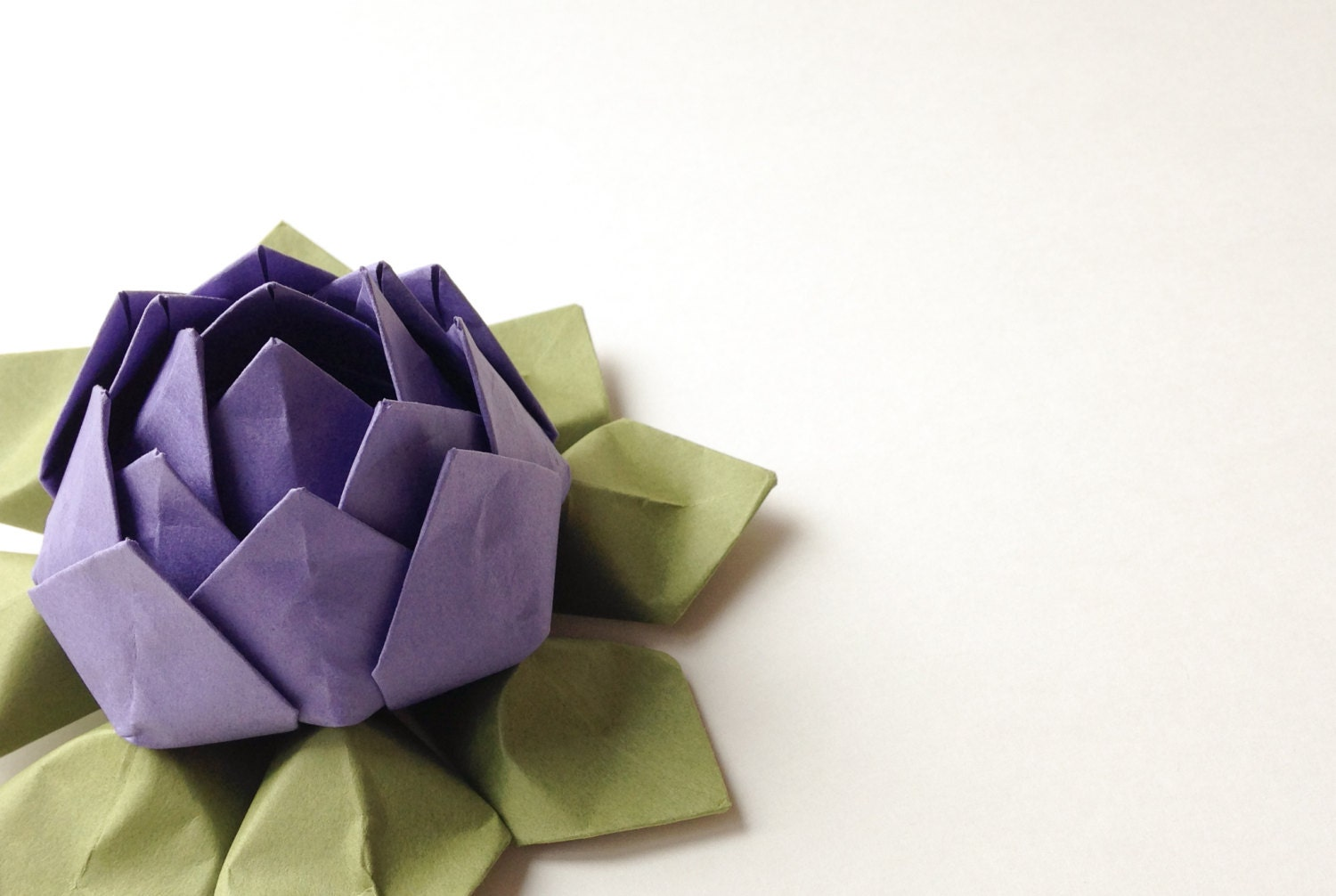paper flower handmade origami lotus flower gift by