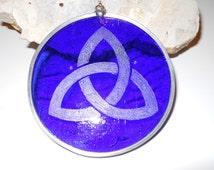 Cobalt Blue Trinity Suncatcher