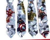 Boys - Marvel Avengers Velcro Neck Tie, READY TO SHIP