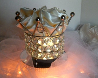 Princess crown ring bearer's ring holder,cake topper centerpiece Bridal. baby shower wedding birthday, Quinceanera. sweet 16
