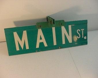 Vintage Metal Main Street Road Sign   15 - 1