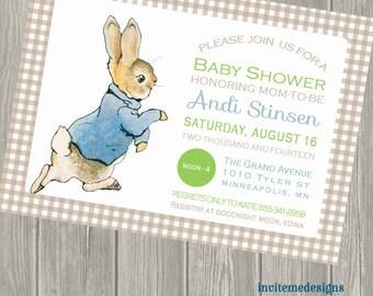 Peter Rabbit Baby Shower, Peter Rabbit Invitation