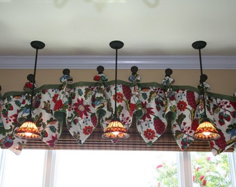 Custom Made Valance with Pottery Barn Serafina Fabric