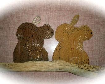 ON SALE, Woodland Squirrel Potholder, Hot pad