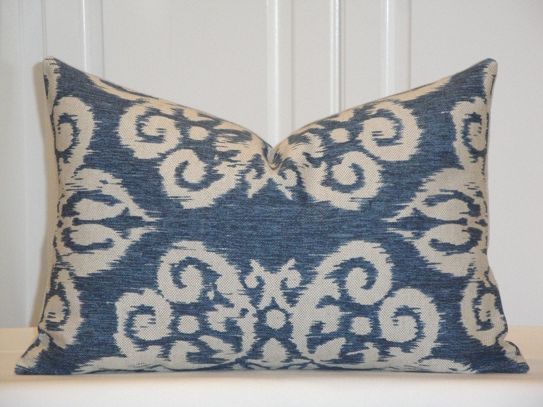 Decorative Pillow Cover IKAT Throw Pillow Accent Pillow
