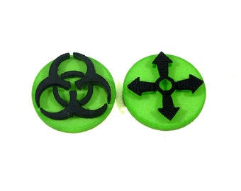 Pandemic Board Game Outbreak and Infection Rate Marker Set Green 3D printed