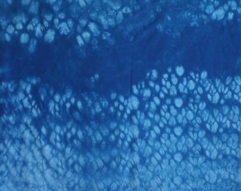 110 - Shibori hand dyed fabric