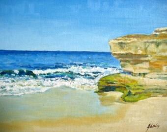 Seascape, original oil painting, Impressionism