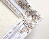 Farmhouse Decor DECORATIVE BULLETIN BOARD Distressed Framed Magnet Board Fabric Wedding Seating Card Idea Narrow 30x54 Home Office Organizer