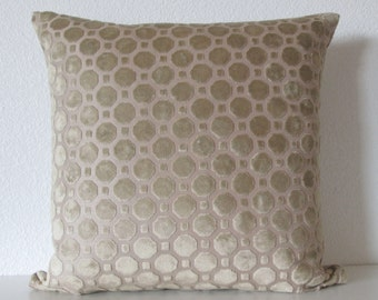 Robert Allen Velvet Geo Truffle decorative pillow cover