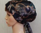 Satin Head Scarf, Jewish Women Head Covering, Curly Hair Wrap, Natural Hair Bonnet, Elegant Women Tichel, Satin Head Wrap, Summer Bonnet