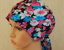 Cancer head scarf, chemo caps, cancer head wrap, hair loss bonnet, cotton head wear, cancer head covering