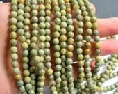 Silver mist Jasper - 6 mm round beads -1 full strand - 50 beads - A quality - RFG305