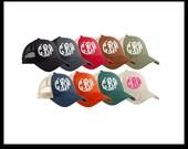 MonogramTrucker Hat - Womens Trucker Hat - Custom Trucker Hat