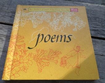POEMS 1965 by Robert Louis Stevenson, Christina Rossetti  Alfred Lord Tennyson An Early Start Preschool Reader 1965 Children's Poetry book