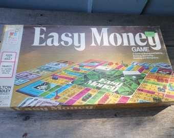 Easy Money Vintage 1974 Milton Bradley Game EASY MONEY A Game of Buying and Selling Building Borrowing Banking and Mortgaging complete game