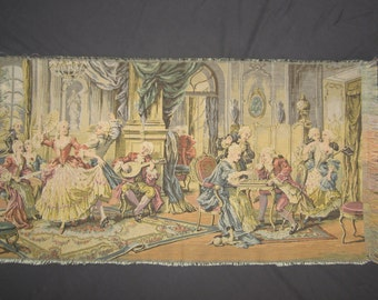 Tapestry Renaissance Party Scene Made In Belgium