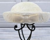 Woman's Faux Fur Hat - ladies' vintage white hat