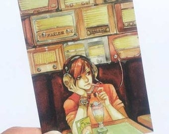 Radio Cafe ACEO Print