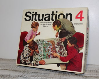 1968 Situation 4 Action Puzzle Game by Parker Brothers