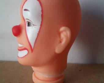 Soft Plastic Vinyl Circus Clown Head