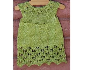 Tureman Baby Dress PDF pattern newborn, 3, 6, 9, 12, 18 months 2t 3t 4t 5t