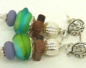 Lampwork Earrings FLOWER POWER