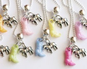 Horse Necklace Party Favors, 10 Assorted Colors Cowgirl Boot Necklace, Kids Jewelry, Birthday Party, Kids Jewelry, Children Jewelry