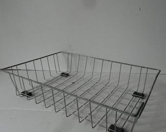 Vintage Industrial Metal Wire File Basket or Folder