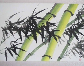 Original Chinese painting-Bamboo(Bamboo in Wind)