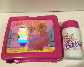 Barbie Lunchbox and Thermos