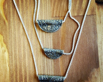 Sterling Silver Incan Inspired Pendant -Medium Size 2.5cm