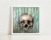 Even As The Same Outcome - 12x12 inches Fine Art Print of Oil Painting, Limited Edition of 15 - Motivational Pop Surrealism Art