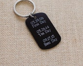 custom engraved dog tag keychain --- your custom message up to 100 characters