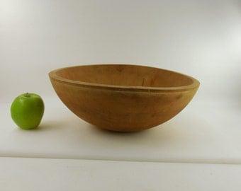 "Large Kitchen Wood Utility Dough Bowl - 15"""