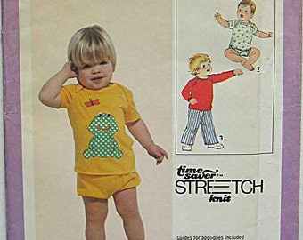 Simplicity 9016 Sewing Pattern Toddler's, Children's, Pullover Top, Pants, Shorts, Frog, Butterfly Applique UNCUT Sizes 1-2-3